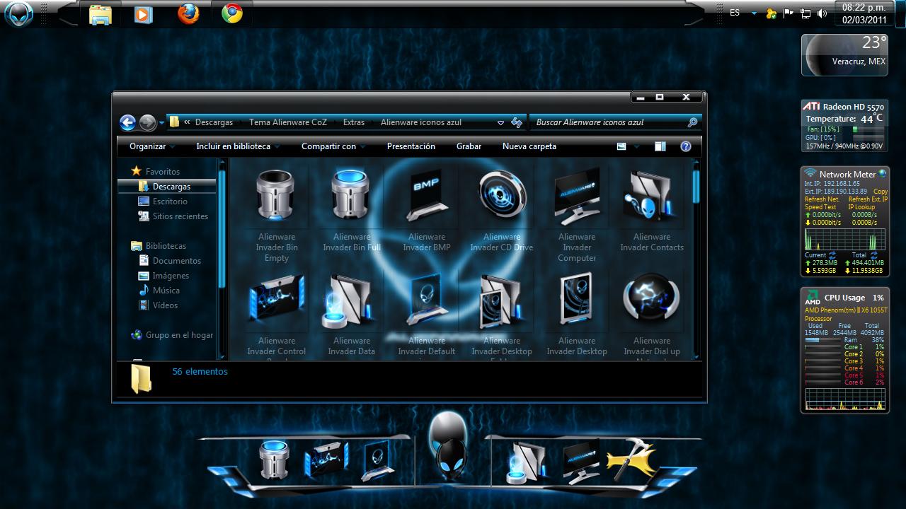 Tema Alienware para Windows 7 [x86/x64] +Extras [Mediafire]