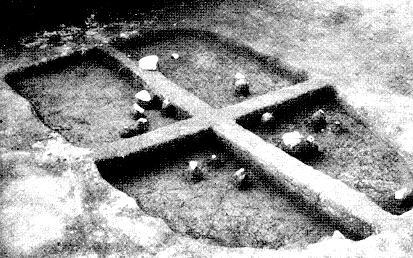 Restos de la vivienda 9500 años antiguedad
