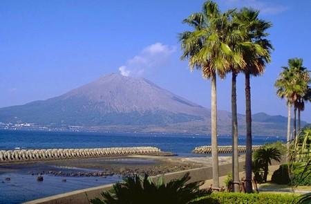 Vista del Volcán Sakura-shima
