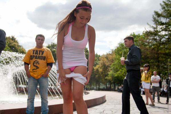 Chica de 19 años se desnuda -