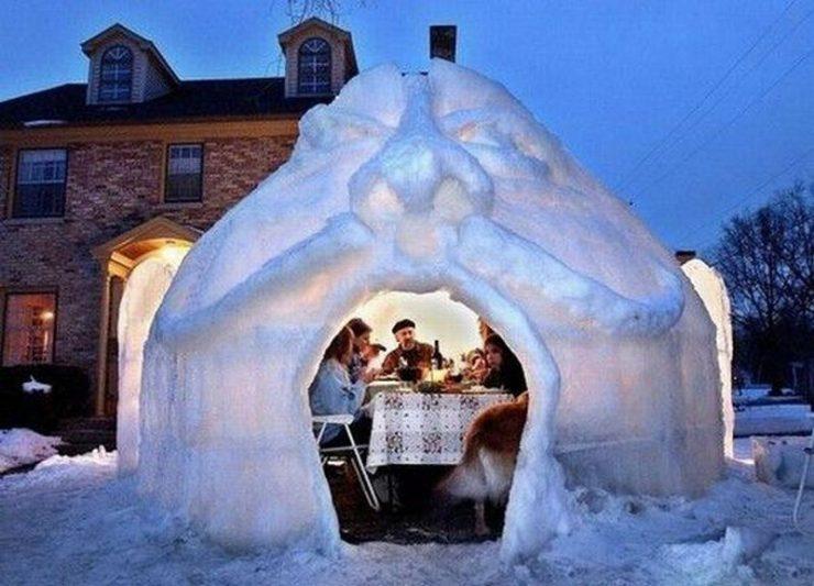 Śniegowe budowle 9