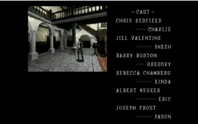 Resident Evil 1: Quienes son los Actores de la intro?