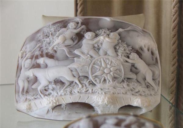 Gliptyka - rzeźba na muszli 26