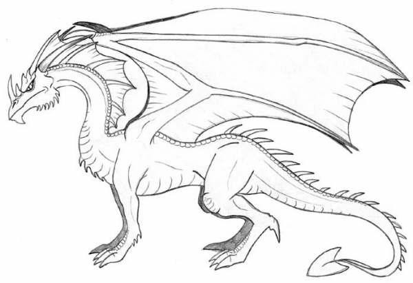 Colorear Dragones Para Dragones Para Colorear: Fotos De Dragones Para Colorear