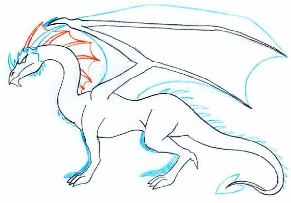Dragones para dibujar a lapiz chidos - Imagui